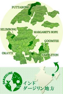 ダージリンの地図